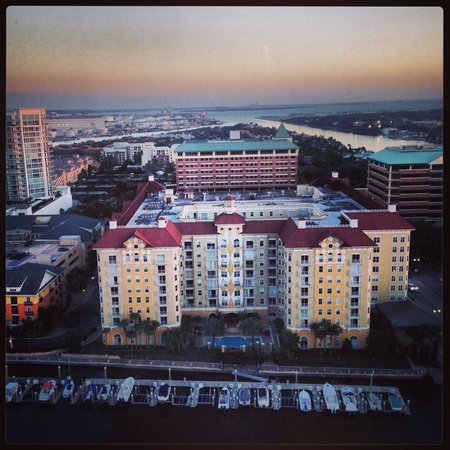 Tampa Marriott Waterside Hotel & Marina: View from concierge lounge
