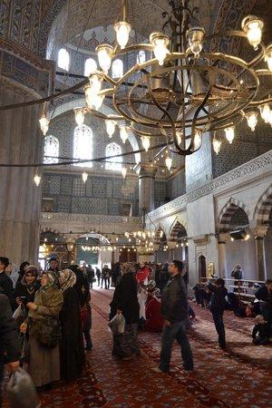 Mezquita Azul: Las lámparas