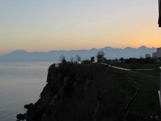 Lara Hotel Antalya: Blick vom Balkon bei Sonnenuntergang