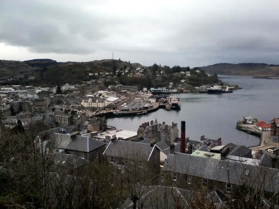 McCaig's Tower: Views of Oban from tower