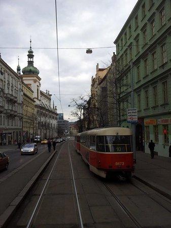 Hotel Ametyst Prague: Tram rides