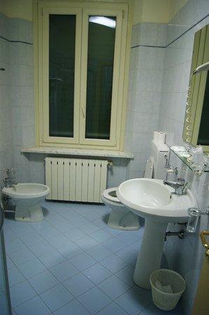 Hotel Brasile: Туалет