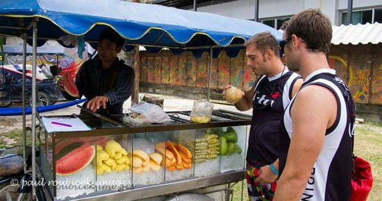 Kite Zone Phuket : Fresh fruits vendor daily at 10am