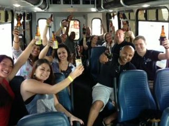 The Brew Bus-South Florida: Just another day on the Brew Bus with friends and cold craft beer.
