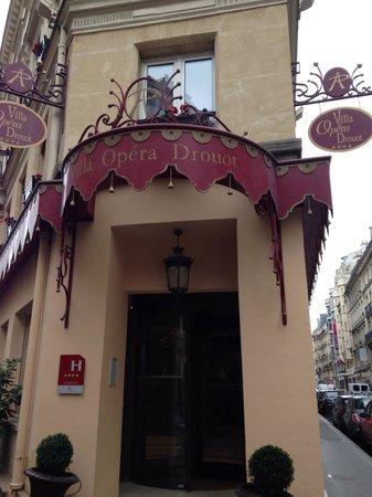 Villa Opera Drouot: Fachada del hotel (I)