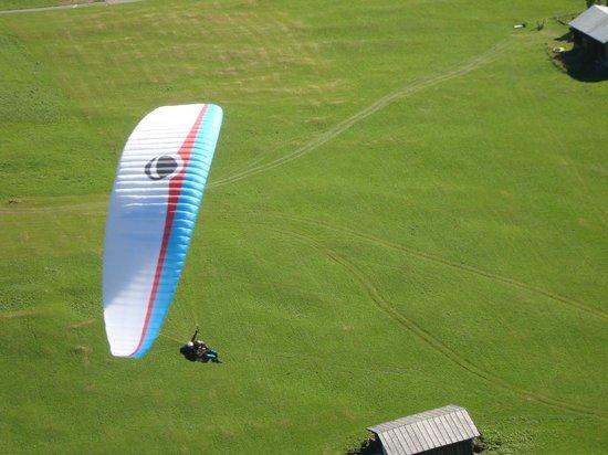 Joyride Paragliding: Landung Davos Bolgen