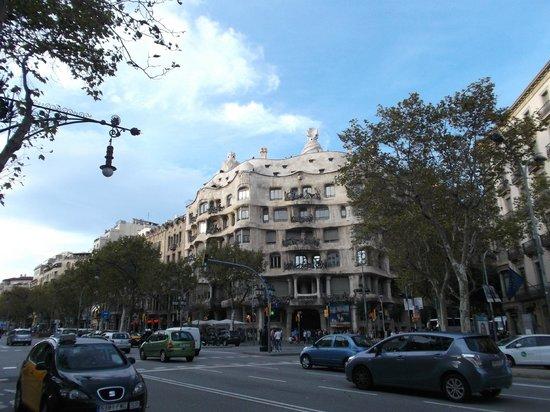 Paseo de Gracia (Passeig de Gracia): Barcelona, España, Paseo de Gracia. Passeig de Gracia.