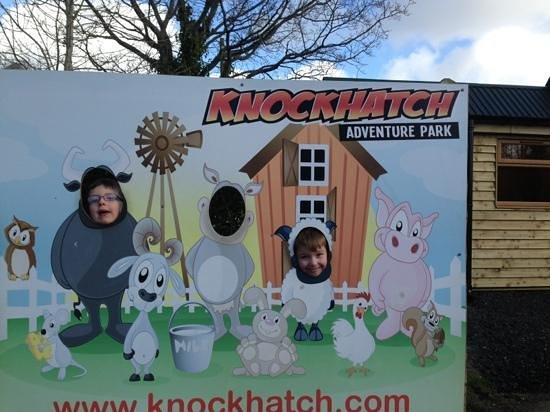 Knockhatch Adventure Park: having fun
