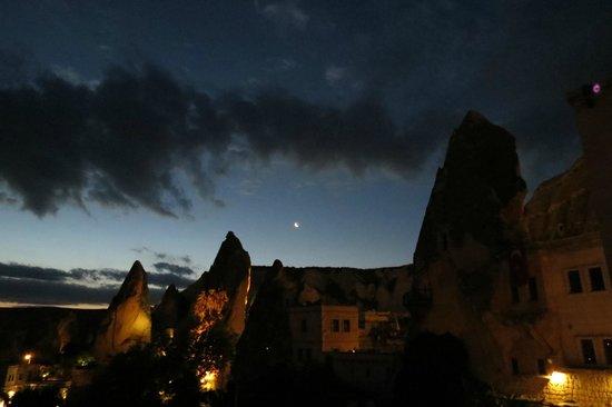 Cappadocia Cave Suites : vista da varanda do apartamento