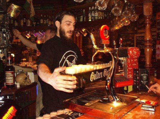 Golden Gloves Hard Rock Pub: A metre of beer.