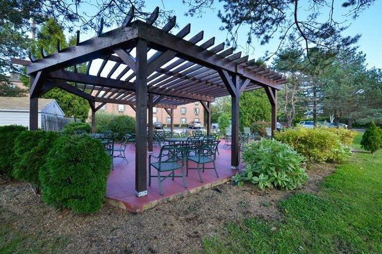 Comfort Inn Airport: Patio and BBQ area