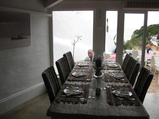 O Pescador Benagil: dining room