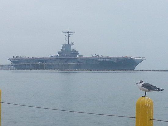 USS LEXINGTON: Lexington in the bay
