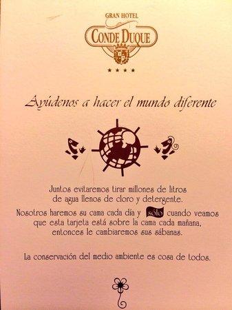 Sercotel Gran Hotel Conde Duque: Buena iniciativa.
