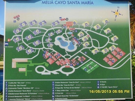 Map Of Hotel Picture Of Melia Cayo Santa Maria Cayo Santa Maria Tripadvisor