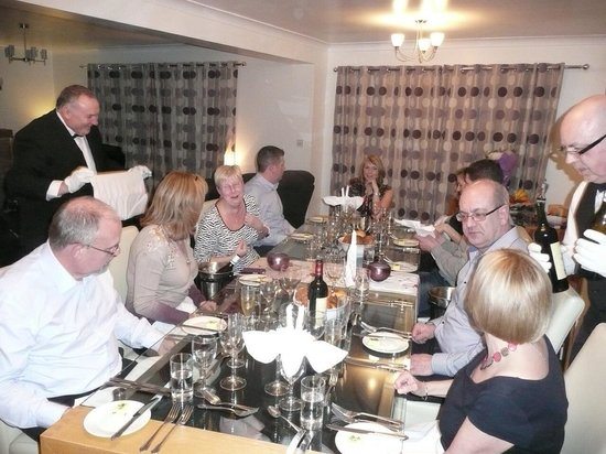 The Cross Keys Restaurant Stow: Private dinner party catered for by the cross keys, stow