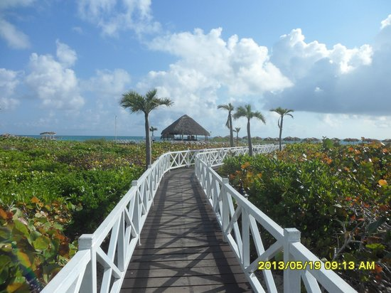 Melia Cayo Santa Maria: the walkway to the beach