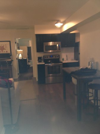 The Star: kitchenette and dining area