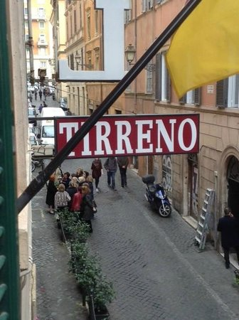 Tirreno Hotel : View from our bedroom window (first floor, front of hotel)