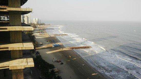 Hotel Capilla del Mar : Vista de las playas de Bocagrande