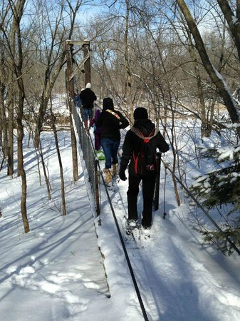 BentRiver Outfitter : Snowshoeing at Wild wood
