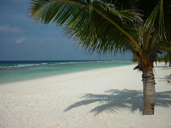 Kuredu Island Resort & Spa : Beach outside our Villa