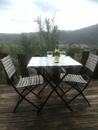 Le Petit Karoo Ranch: Nu een fles wijn, morgenochtend het ontbijt