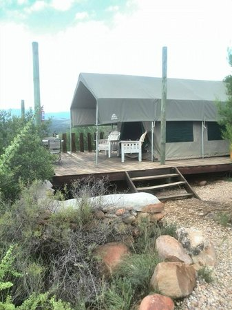 Le Petit Karoo Ranch: Onze tent bungalow
