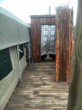 Le Petit Karoo Ranch: De wc lekker buiten, altijd frisse lucht!