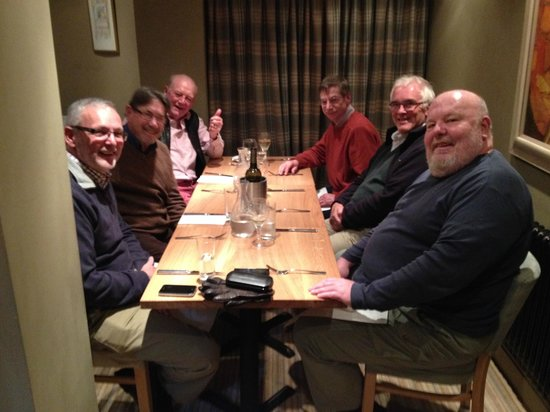 The Circus Restaurant: We are the 'Grumpy old Men's Club' from Bath