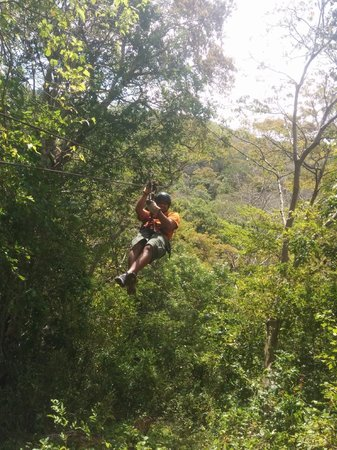 Da Flying Frog Canopy Tours: On the zip line