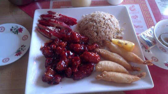 Lee's Chinese: General taos combination plate
