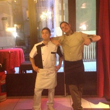 Restaurant La Mandoline: les gérants chef de cuisine et pizzaiolo