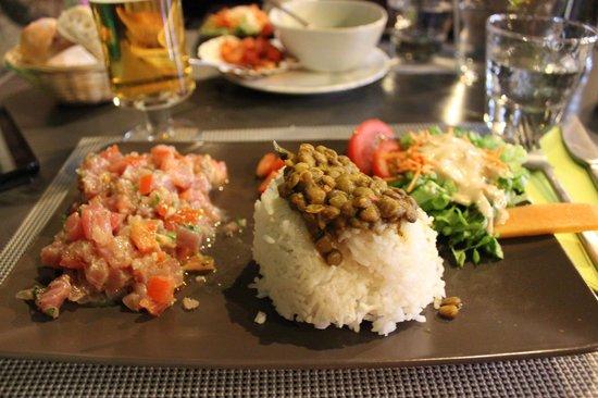 Cuisine Beige Sol Gris : Restaurant du Lavoir  Tartare thon rouge