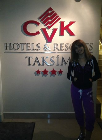 CVK Hotels Taksim : My sweetywife  in our anniverary/Valentine day