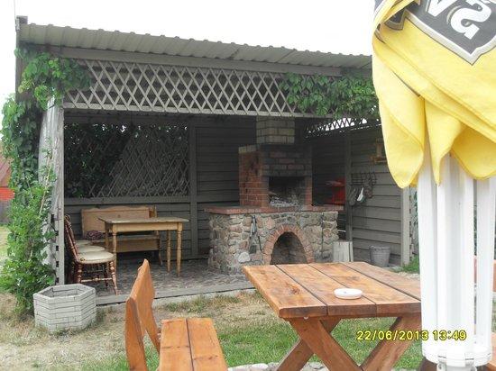 Veronika : Great BBQ food cooked in garden