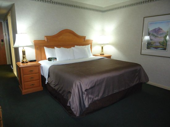Banff Park Lodge Resort and Conference Centre: Comfortable King size bed and lots of pillows
