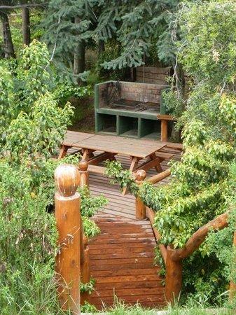 Cabanas La Deseada: parrilla comunitaria