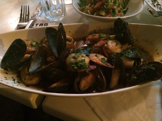 Bistro 60 : Mixed seafood platter for 2. This is a must with rice to soak up the sauce
