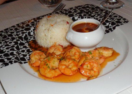 Restaurant Casa Veintiuno: Prawns with spiced orange and cashews