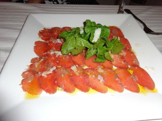 Restaurant Casa Veintiuno: Beef Carpaccio - fabulous