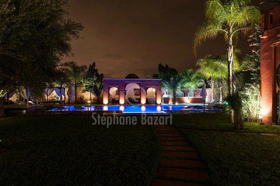 El Miria Palais Riad : Piscine de nuit ...