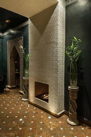 El Miria Palais Riad: Côté salon, coin cheminée