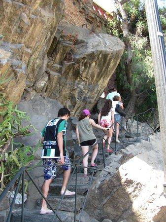 Cerro Santa Lucía: Las escalinatas.