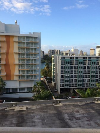 The Condado Plaza Hilton : View directly across from us (tiny part of lagoon)