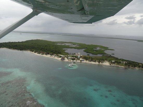 Blackbird Caye Resort: Blackbird aus der Luft