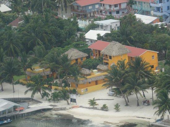 Seaside Cabanas aus der Luft