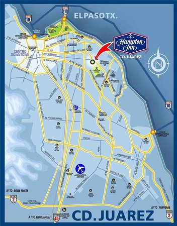 Hampton Inn by Hilton Ciudad Juarez: Location Map