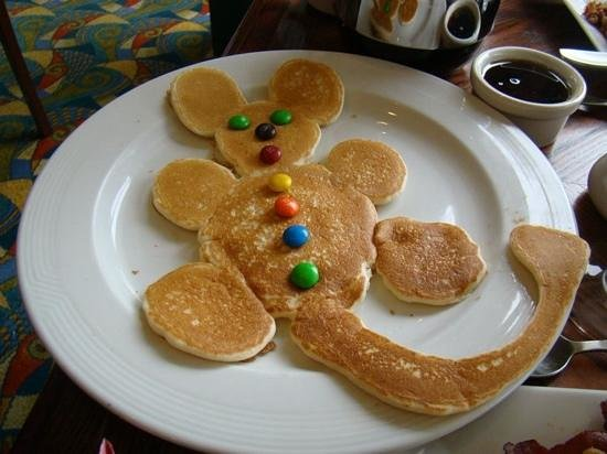 Newport Beach Marriott Bayview: The Mickey Mouse pancake--just one sample of how Javier spoils the guests