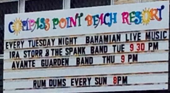 Compass Point Beach Resort: the bar